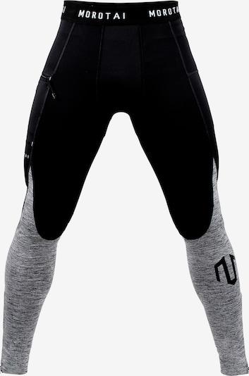 Pantaloni sport MOROTAI pe gri amestecat / negru, Vizualizare produs
