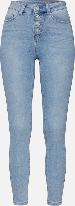 Noisy may Jeans 'NMCALLIE HW SKINNY ANKLE JEANS JJ034LB' in blue denim / hellblau, Produktansicht