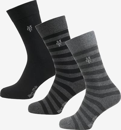 Marc O'Polo Sokken 'Swen' in de kleur Basaltgrijs / Zwart, Productweergave