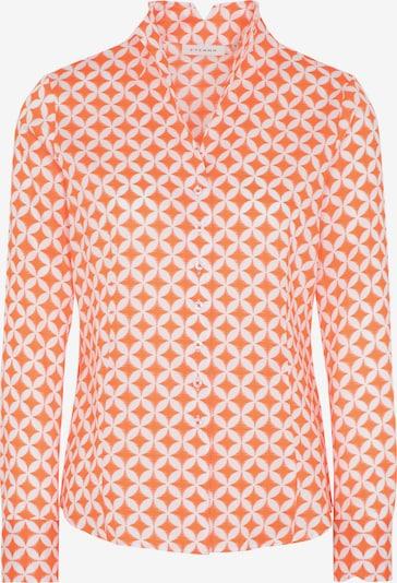 ETERNA Blouse in de kleur Sinaasappel / Wit: Vooraanzicht