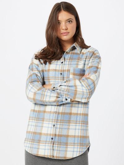 SISTERS POINT Bluza 'Ellie' u svijetlobež / svijetloplava / prljavo bijela, Prikaz modela