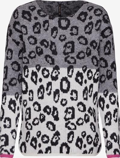 Key Largo Pullover 'WKN LEO' in graumeliert / offwhite, Produktansicht