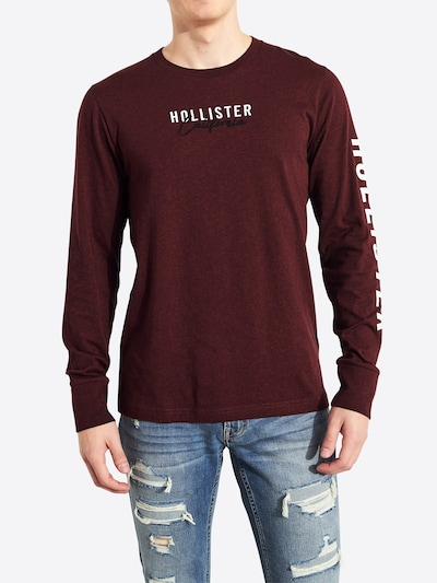 HOLLISTER Shirt & Polos 'LS OMBRE SOLIDS' in burgunder: Frontalansicht