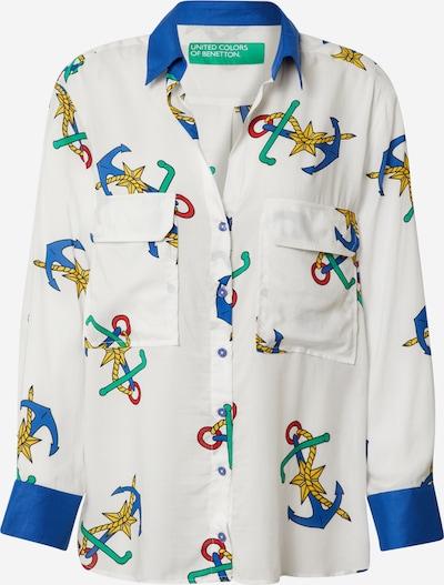 UNITED COLORS OF BENETTON Bluse in mischfarben / weiß, Produktansicht