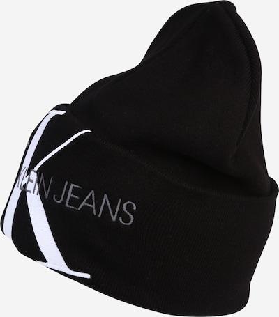 Calvin Klein Jeans Kapa u crna / bijela, Pregled proizvoda