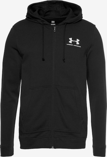 UNDER ARMOUR Sweatjacke in schwarz / weiß, Produktansicht