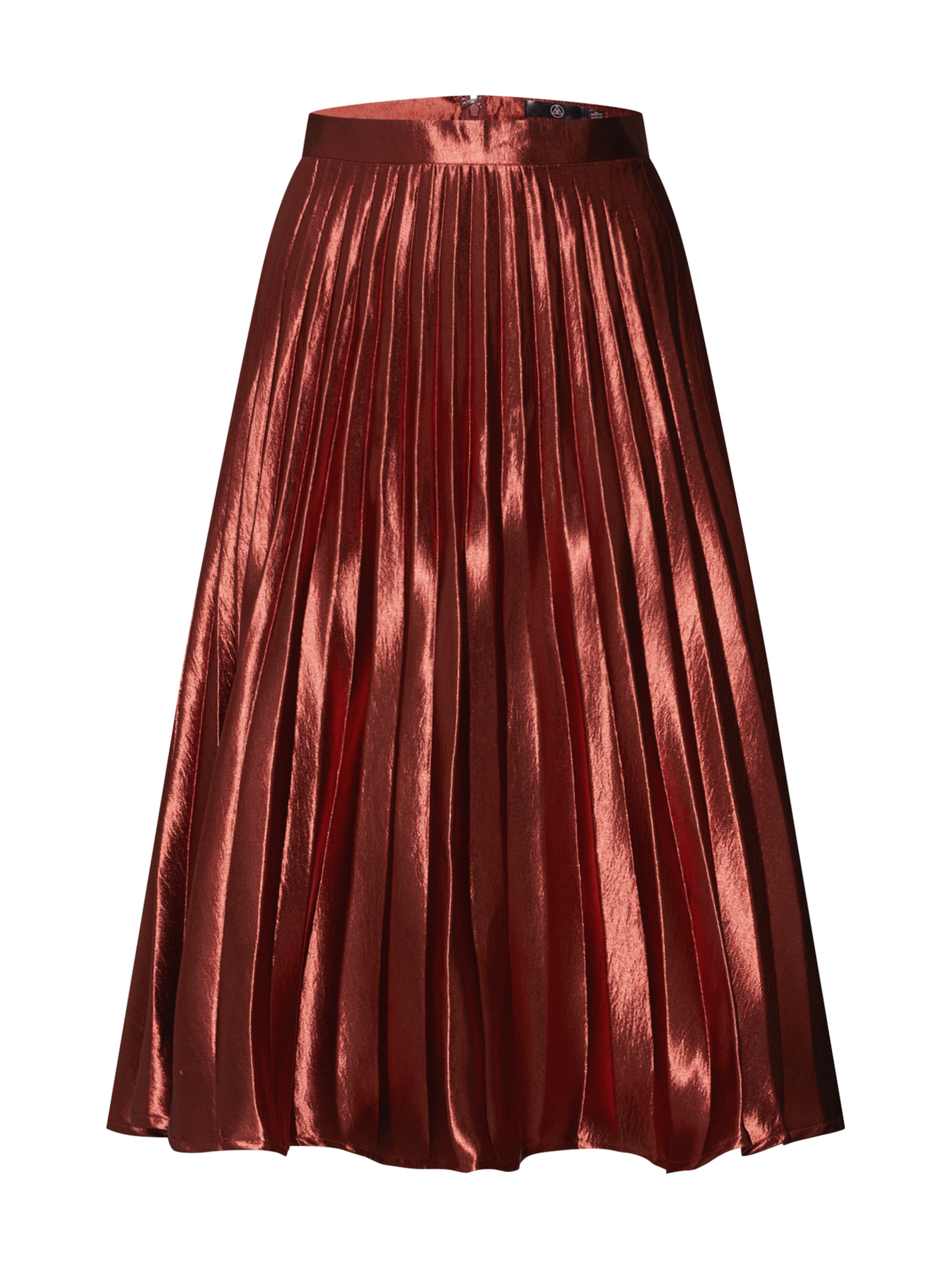 21622a0ce7651c Pleated Missguided In Roestrood Rok Satin Midi Skirt   hammered 6fyvYbI7g