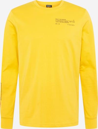 DIESEL Shirt in gelb / schwarz, Produktansicht