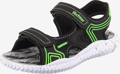 RICHTER Sandale in grün / schwarz, Produktansicht