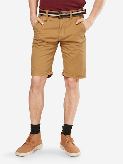 INDICODE JEANS Chino-Shorts 'Royce' in cognac: Frontalansicht