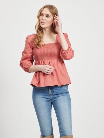 VILA Bluse in pastellrot, Modelansicht