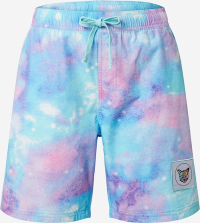 PARI Shorts de bain en turquoise / violet, Vue avec produit