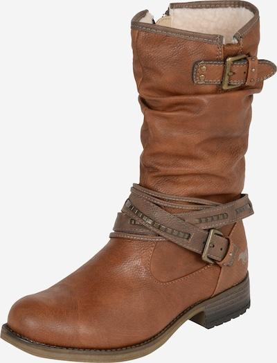 MUSTANG Stiefel mit Riemen in braun, Produktansicht