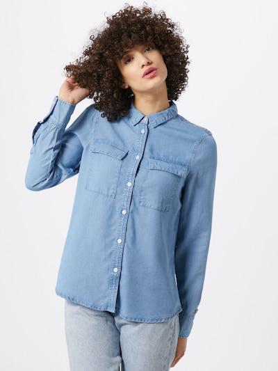 VERO MODA Bluse in blue denim, Modelansicht