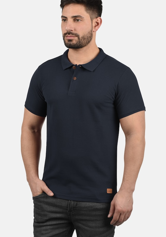 Redefined Rebel Poloshirt 'Mike' in navy: Frontalansicht