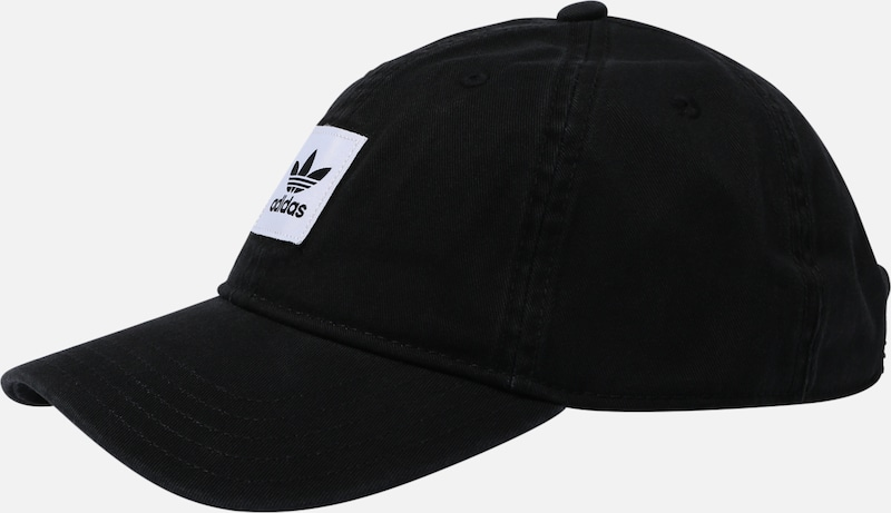 ADIDAS ORIGINALS Pet 'WASHED DAD CAP' in de kleur Zwart / Wit, Productweergave