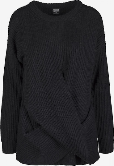 Urban Classics Curvy Pullover 'Ladies Wrapped Sweater' in schwarz, Produktansicht