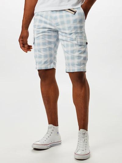 TOM TAILOR Shorts in blau / weiß, Modelansicht