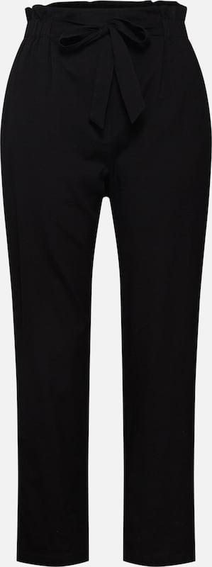 Pantalon Paperbag' En Noir May Noisy 'kelsie wZXiukTOP