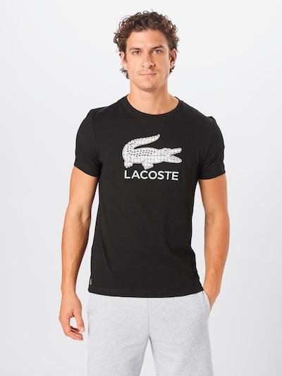 Lacoste Sport Funkční tričko - černá / bílá: Pohled zepředu