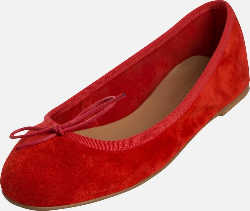 PIECES Wildleder-Ballerinas Leder Verkaufen Sie saisonale Aktionen