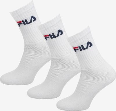 FILA 3 Paar Socken in rot / schwarz / weiß, Produktansicht