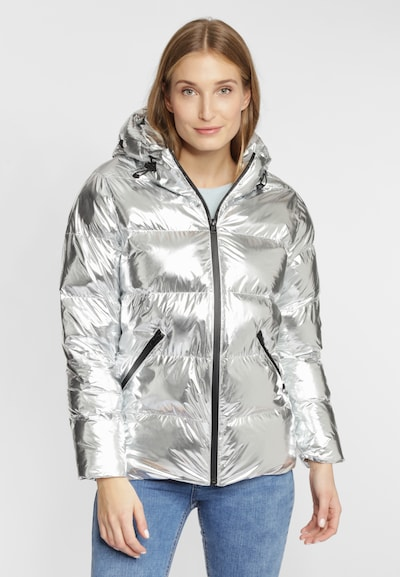 Grace Steppjacke in Metallic-Optik in silber, Produktansicht