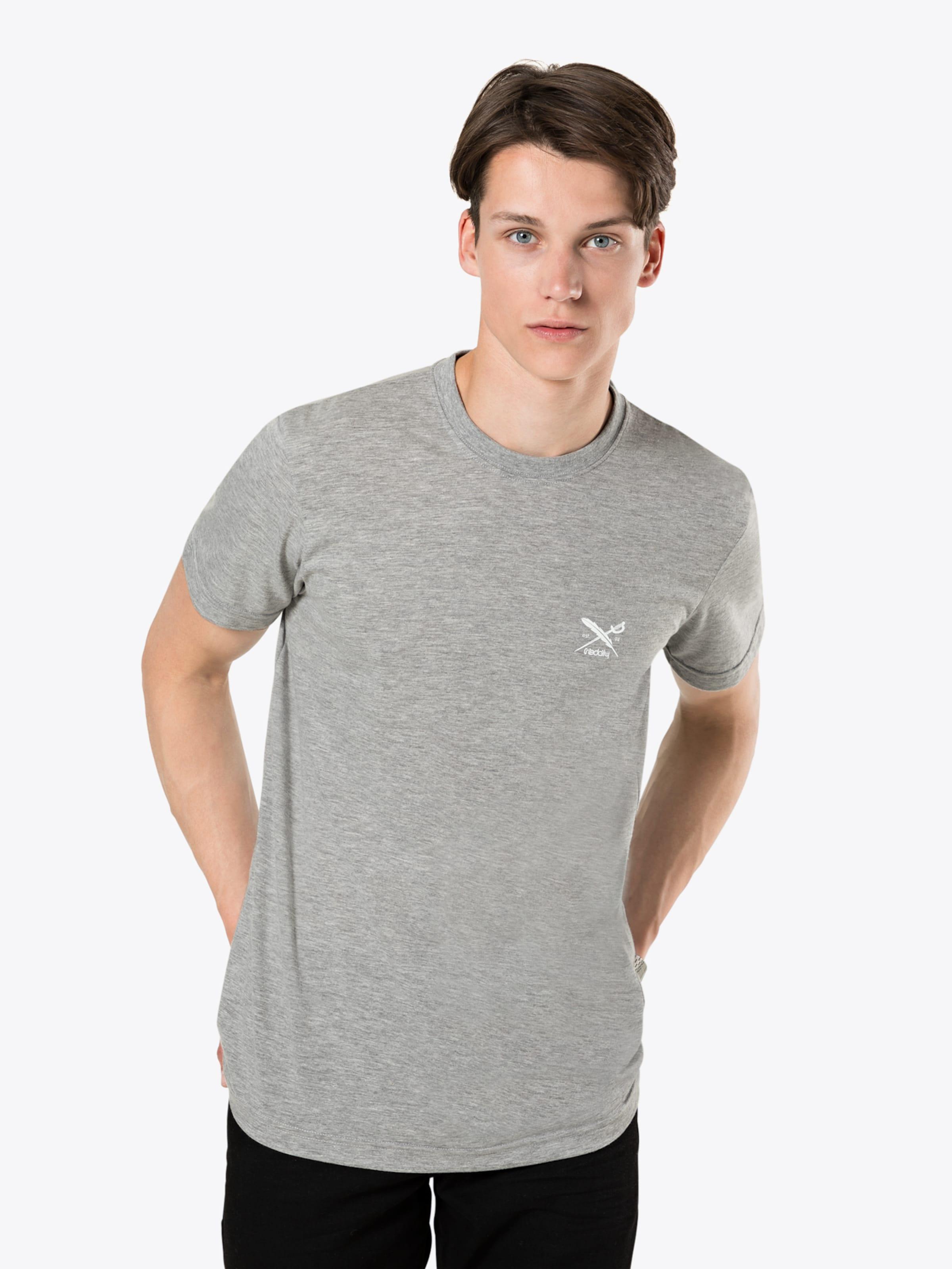 In T Iriedaily Graumeliert Tee' shirt 'chestflag mOyv8PNn0w