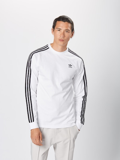 ADIDAS ORIGINALS Sweat-shirt en noir / blanc: Vue de face