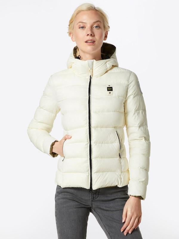 En D'hiver Blauer usa Veste Blanc 5cRj4qA3SL