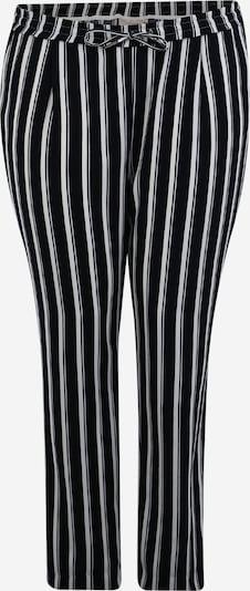 ONLY Carmakoma Pantalon chino 'CARCASIA LONG PANTS' en bleu / blanc, Vue avec produit