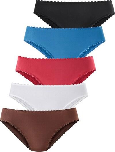 GO IN Microfaserslip (5 Stck.) in blau / braun / rot / schwarz / weiß, Produktansicht