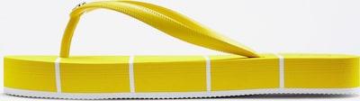 LASCANA Zehentrenner in gelb / weiß, Produktansicht