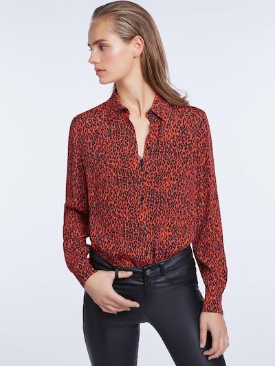 SET Bluse in karminrot / schwarz, Modelansicht