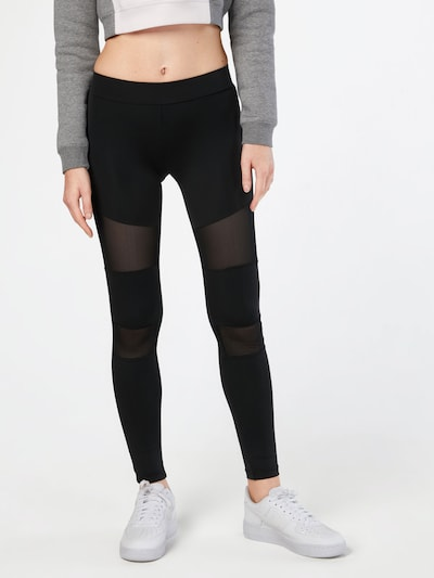 Urban Classics Hose 'Ladies Tech Mesh' in schwarz, Modelansicht