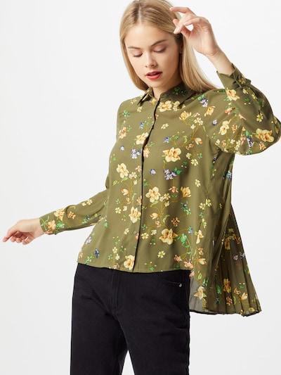 ONLY Blouse 'Claire' in de kleur Olijfgroen / Gemengde kleuren, Modelweergave