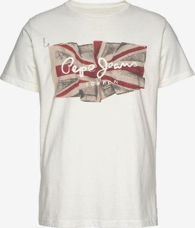 Pepe Jeans Majica 'Flag' | nočno modra / rdeča / bela barva, Prikaz izdelka