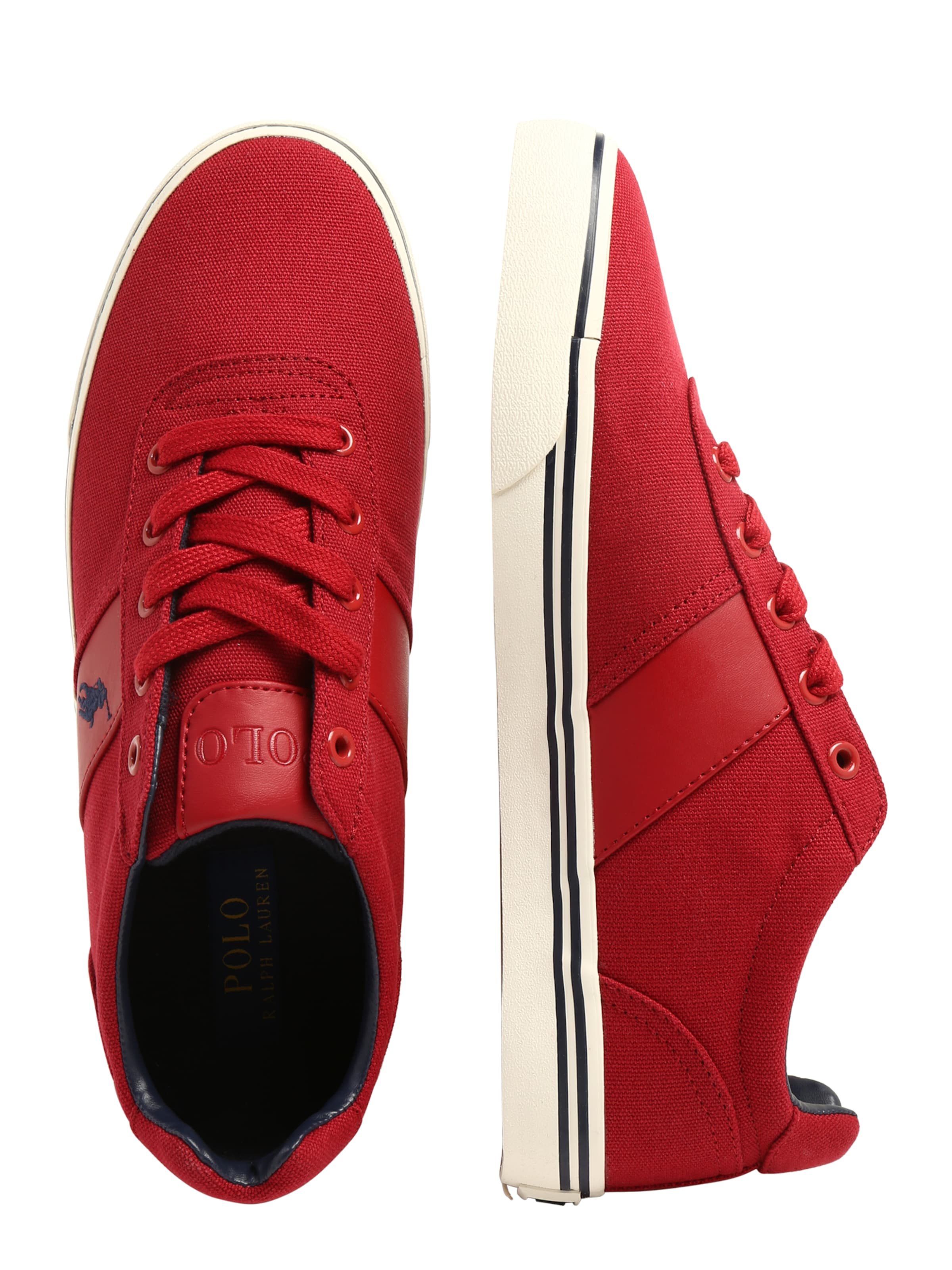 Ralph Polo En Sport' RougeBlanc Lauren Baskets Basses 'hanford wOP0nk