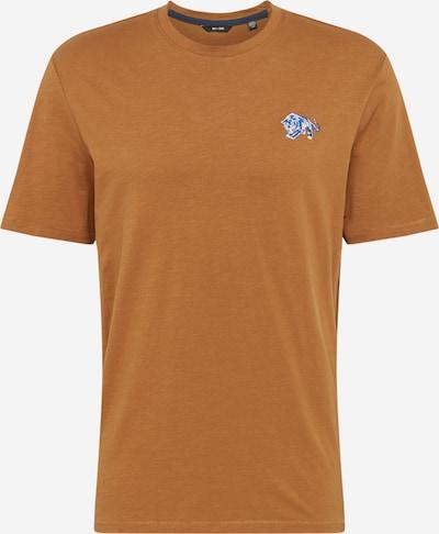 Only & Sons T-Shirt in blau / pastellorange / weiß: Frontalansicht