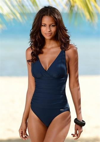 LASCANA Korrigeeriv ujumistrikoo 'Laura', värv sinine