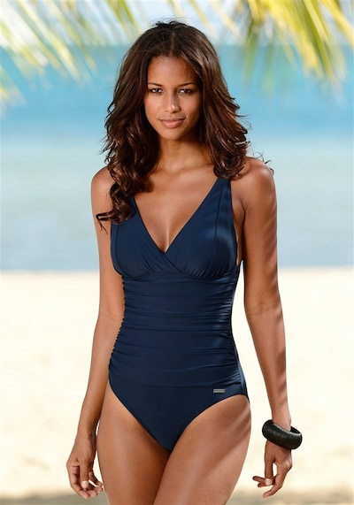 LASCANA Shaping swimsuit in Dark blue, Item view