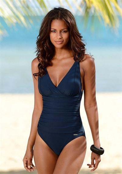 LASCANA Maillot de bain modelant en bleu foncé, Vue avec produit
