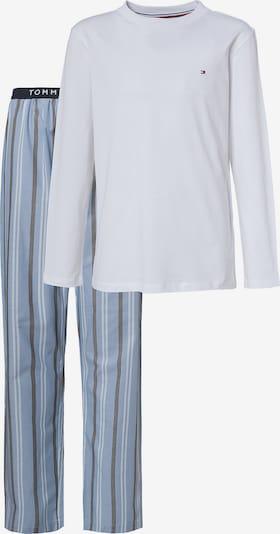 TOMMY HILFIGER Schlafanzug in hellblau / dunkelgrau / weiß, Produktansicht