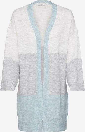 JACQUELINE de YONG Strickjacke in grau / mint / weiß, Produktansicht