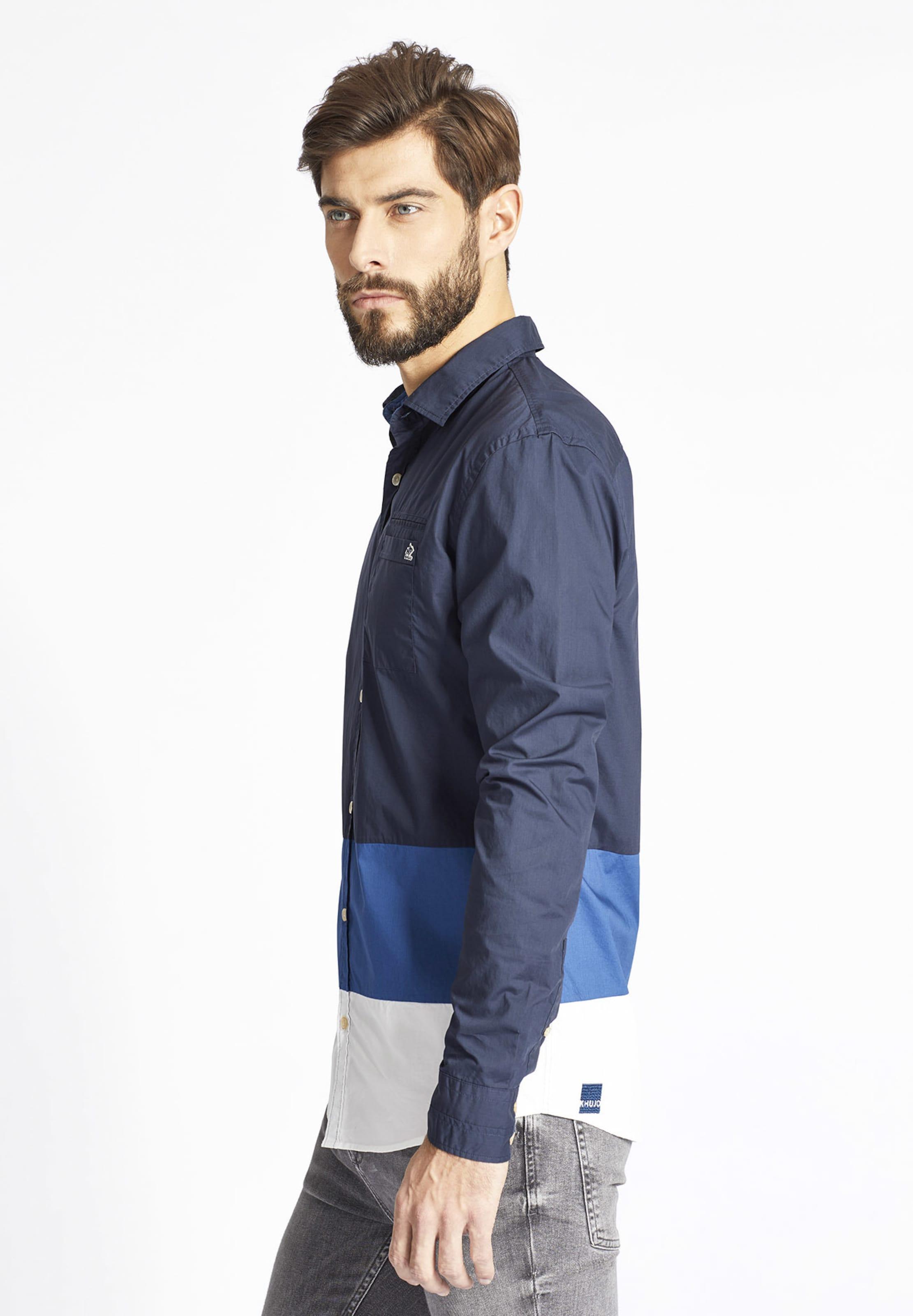 Freizeithemd 'revan' In Weiß Khujo BlauDunkelblau Fl1JcK3T