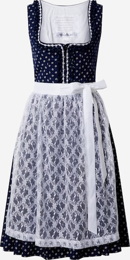 MONDKINI Dirndl 'Schnee' in Night blue / White, Item view