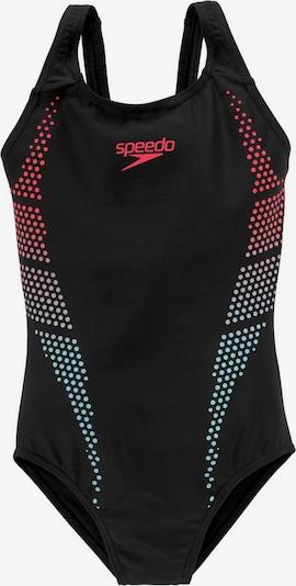SPEEDO Badeanzug in mischfarben / rot / schwarz, Produktansicht