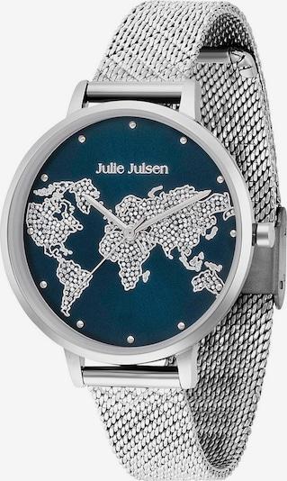 Julie Julsen Quarzuhr 'Word Silver Deep Sea Mesh' in enzian / silber, Produktansicht