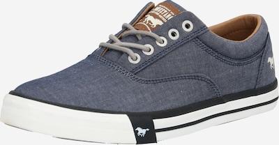 MUSTANG Sneaker in rauchblau / schwarz / weiß, Produktansicht