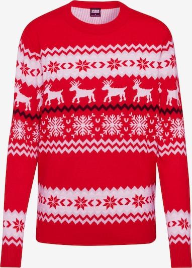 Urban Classics Džemperis 'Norwegian Christmas Sweater', krāsa - sarkans / balts, Preces skats